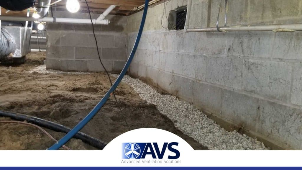 Crawl Space Drainage in Cherryville, NC, 28021, Gaston County (1585)